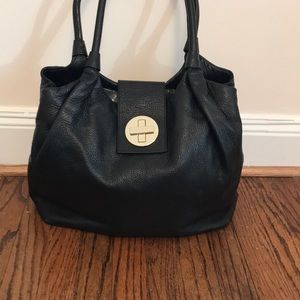 Kate Spade Anisha Bexley in pebbled black leather